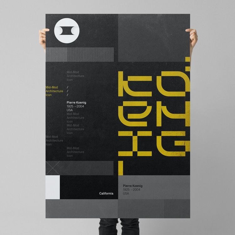Icon Series - Poster project. P - grau | ello