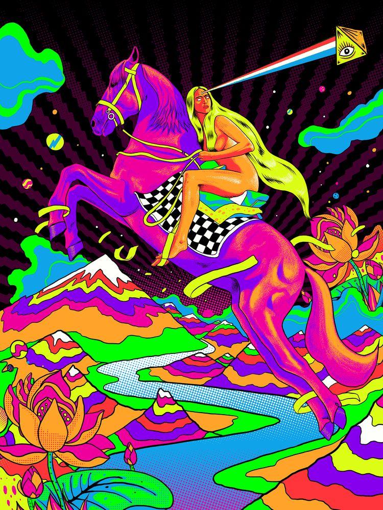 Artwork psychedelic Lady Godiva - rahuljonline | ello