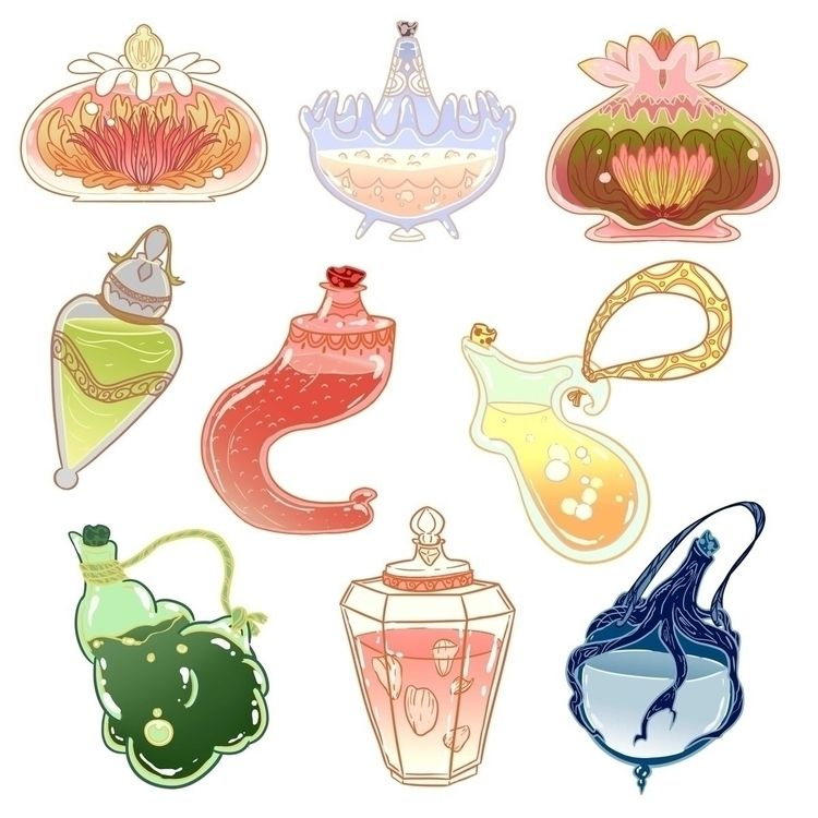 Potion bottles - potion, witchy - iva_the_dragon | ello