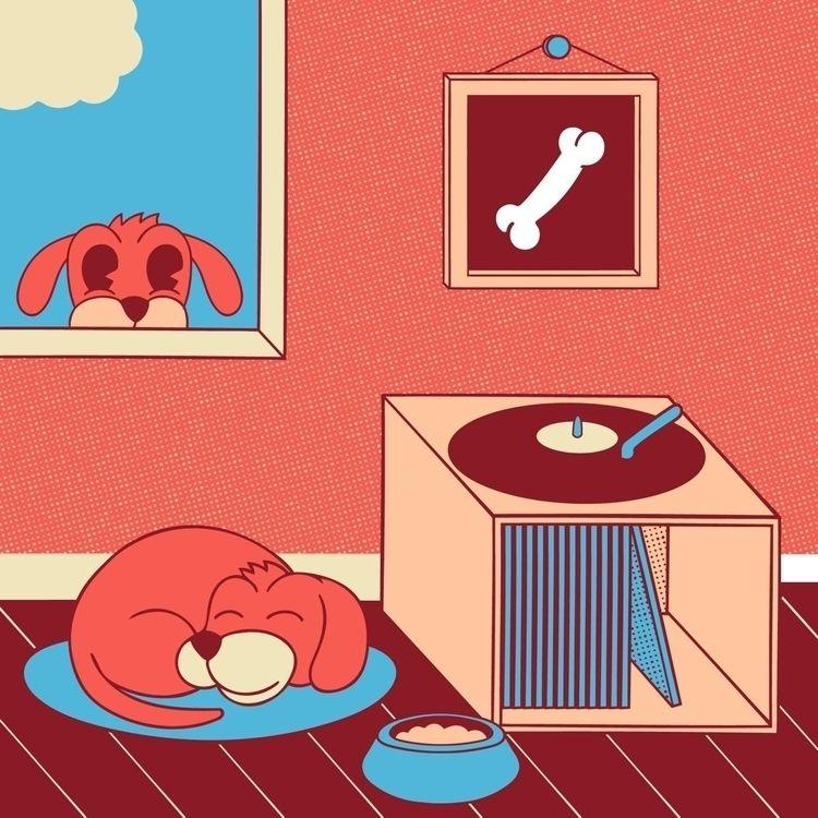 Art, Eat, Bark, Sleep.  - illustration - chrixmorix | ello