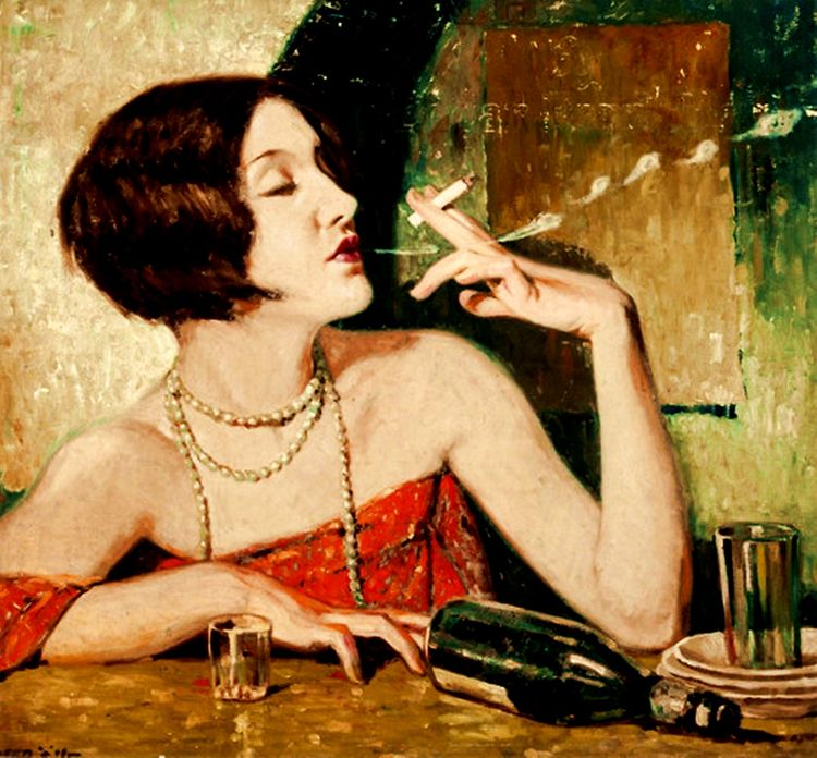 Art 1920s theme...Absinthe, Wee - zorrojacques   ello