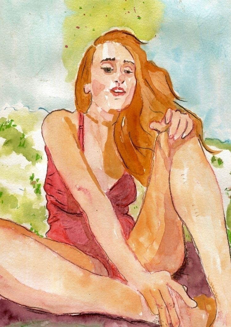 Warmer Daze letting share - watercolor - gravesart | ello