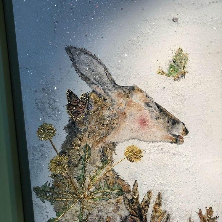 deer (detail - art, painting, leaves - alexakarabin   ello