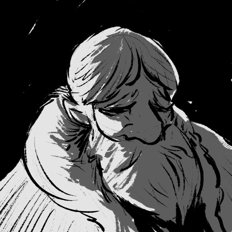 wizard chiaroscuro - digital, illustration - morrowingsart | ello