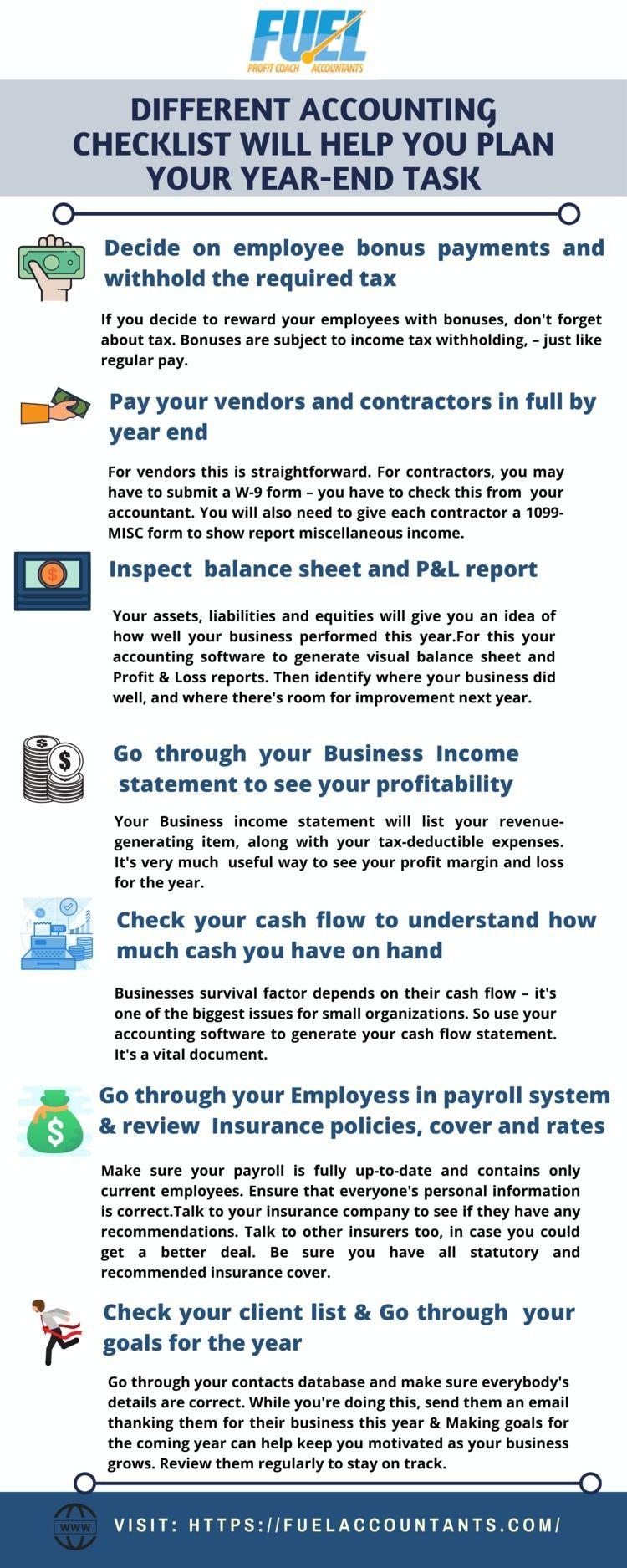 Infographic- Accounting Checkli - fuelaccountants | ello