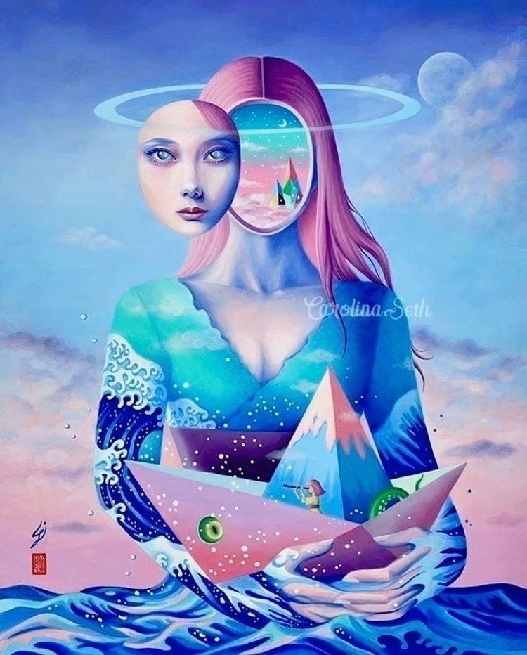 sail Seafarer:droplet:~ (SOLD - surrealart - carolinaseth | ello