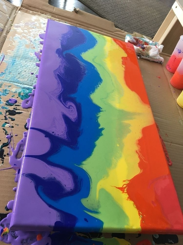 happy turned - art, painting, rainbow - adamfjgreen | ello