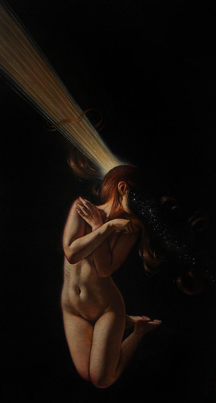 Memory oil linen canvas, 20x40c - ania_tomicka | ello