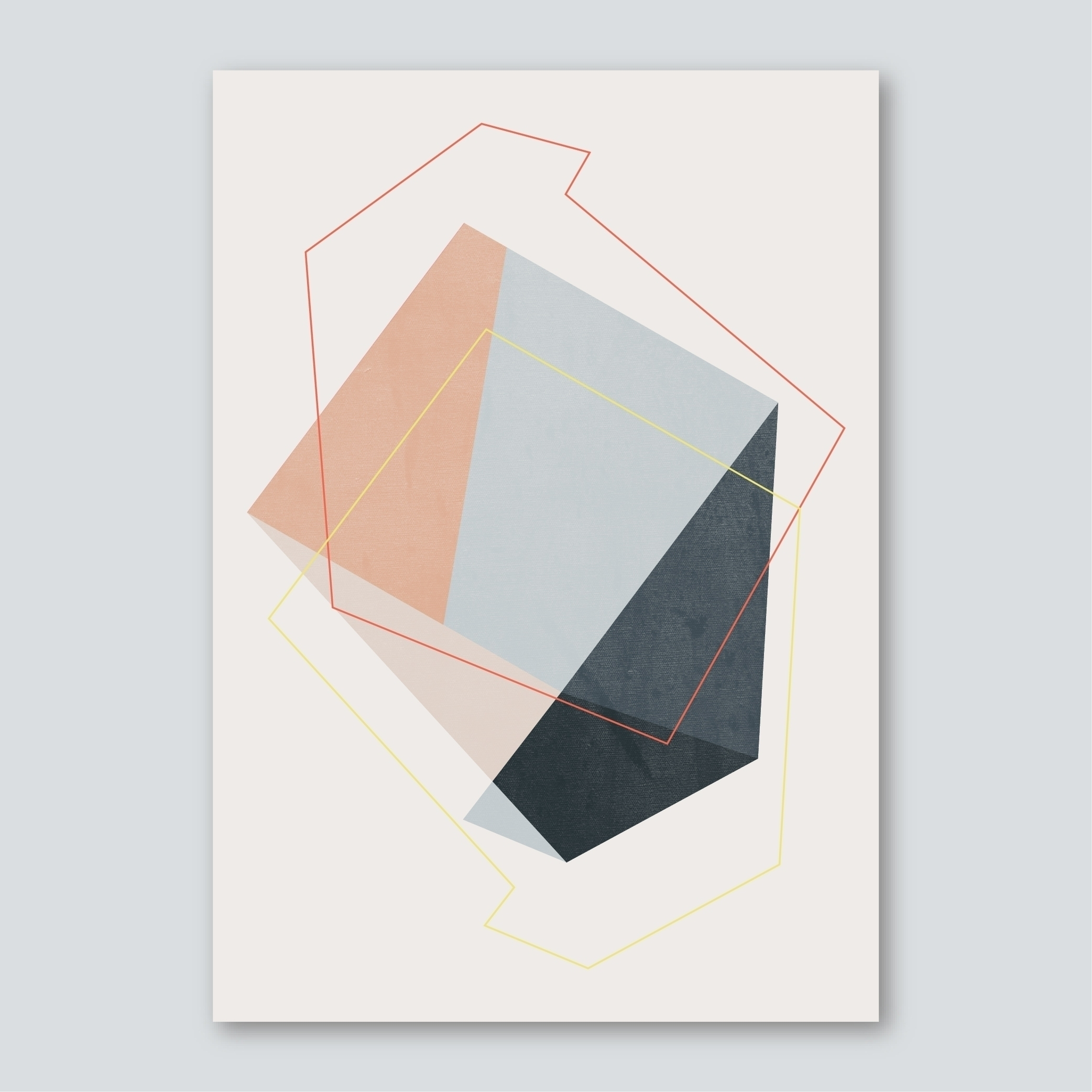 SILENT - digital, geometric, illustration - susanapaz | ello