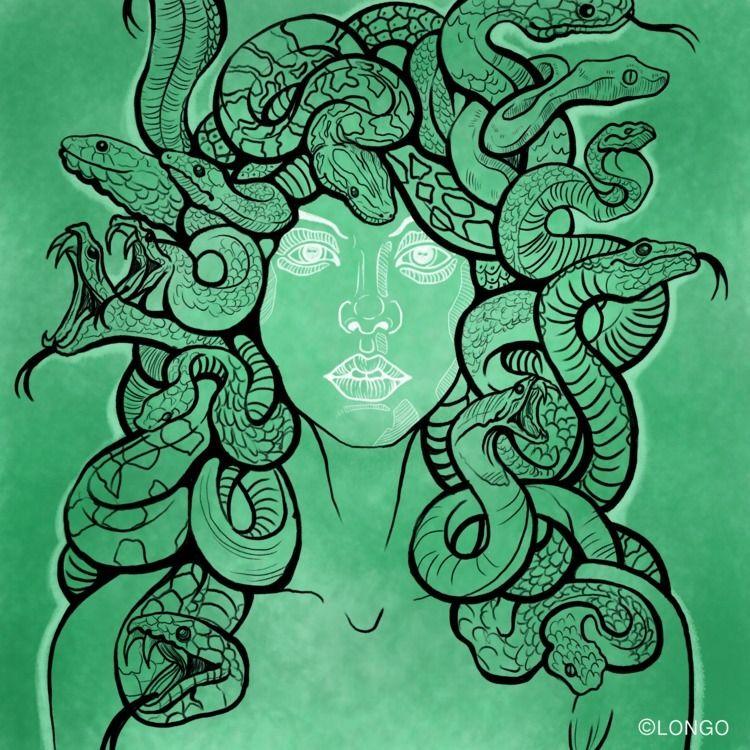 Mythology Series // Medusa Digi - franxlongo   ello