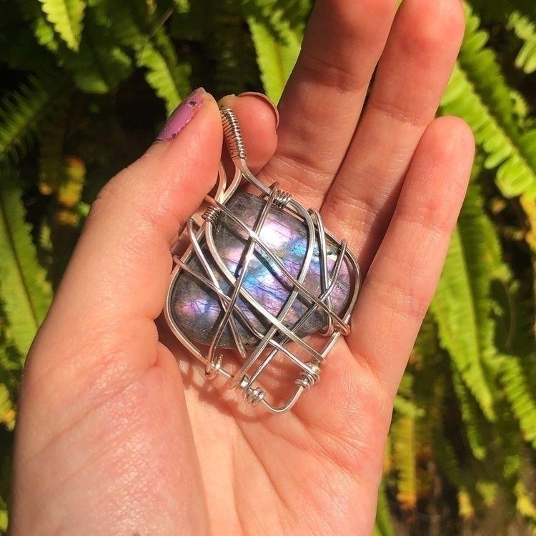 Purple labradorite wrapped silv - crystalsbycreation   ello
