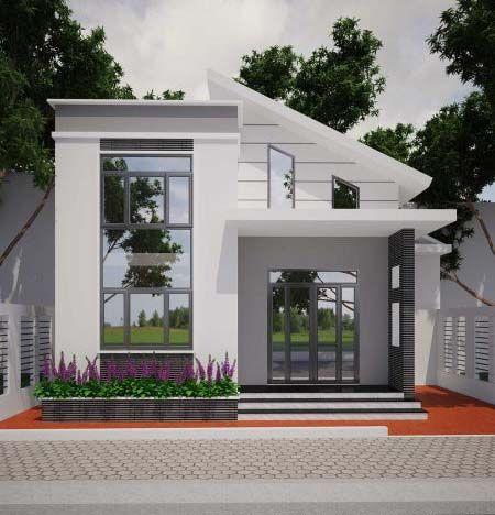 Thiết kế nhà cấp 4 gác lửng giá - thienai | ello