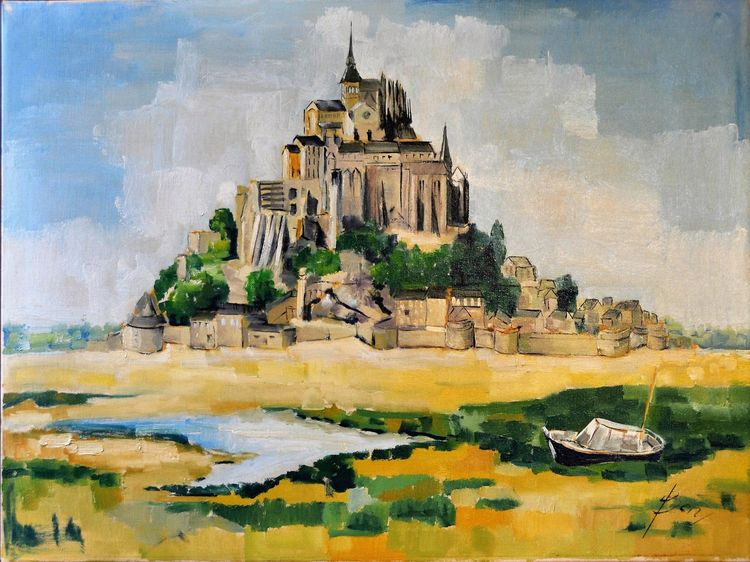 Mont Saint Michel Fr 1980 Olie  - ben-peeters | ello