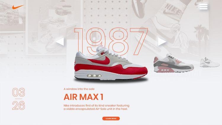 Nike Air Max Day. History UI De - rasadesign | ello