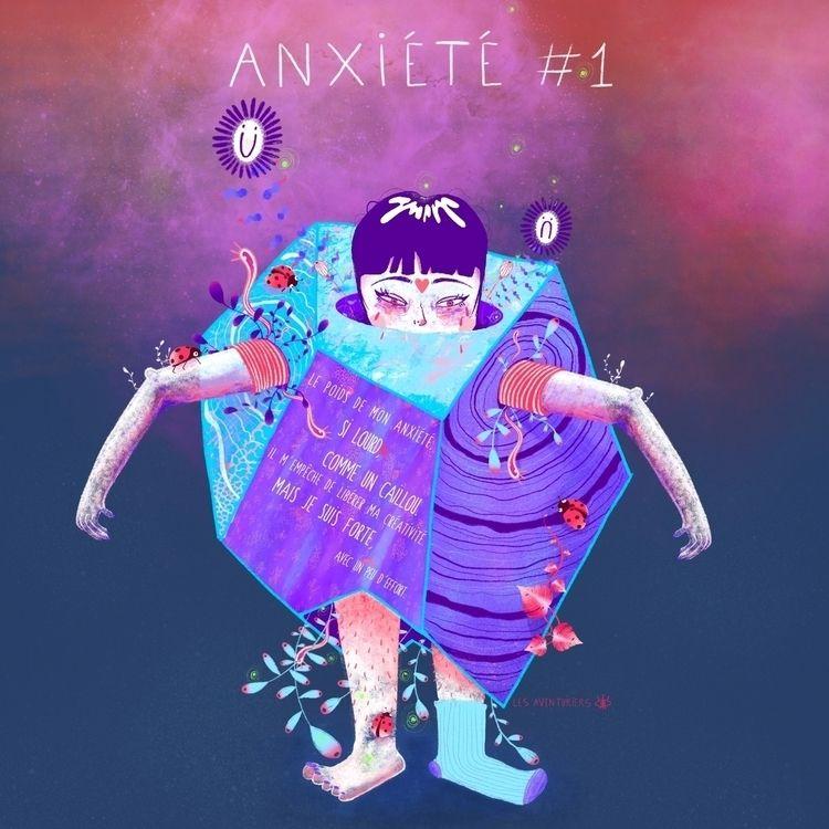 ANXIÉTÉ - illustration, procreate - lesaventuriers | ello