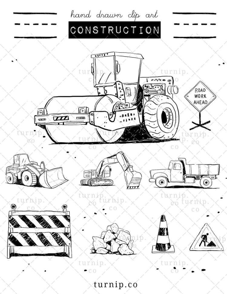 Construction Truck Clipart Blac - turnipco   ello