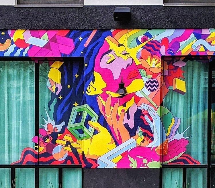 shot mural Moxy Hotel Memphis,  - suga-cyan | ello