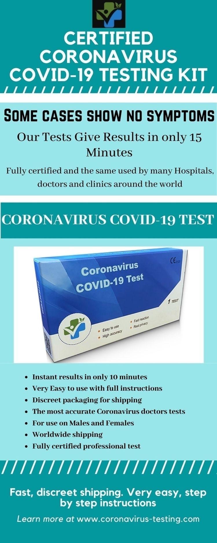 Coronavirus COVID-19 Test Kit  - coronavirustesting   ello