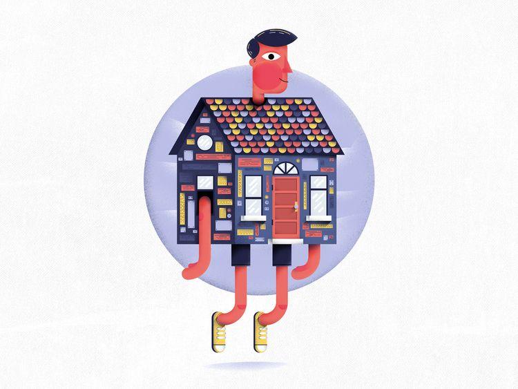 Homebody. design started year,  - gintron | ello