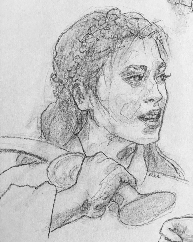 swinging sword trash talking - sketch - coyotehowl | ello