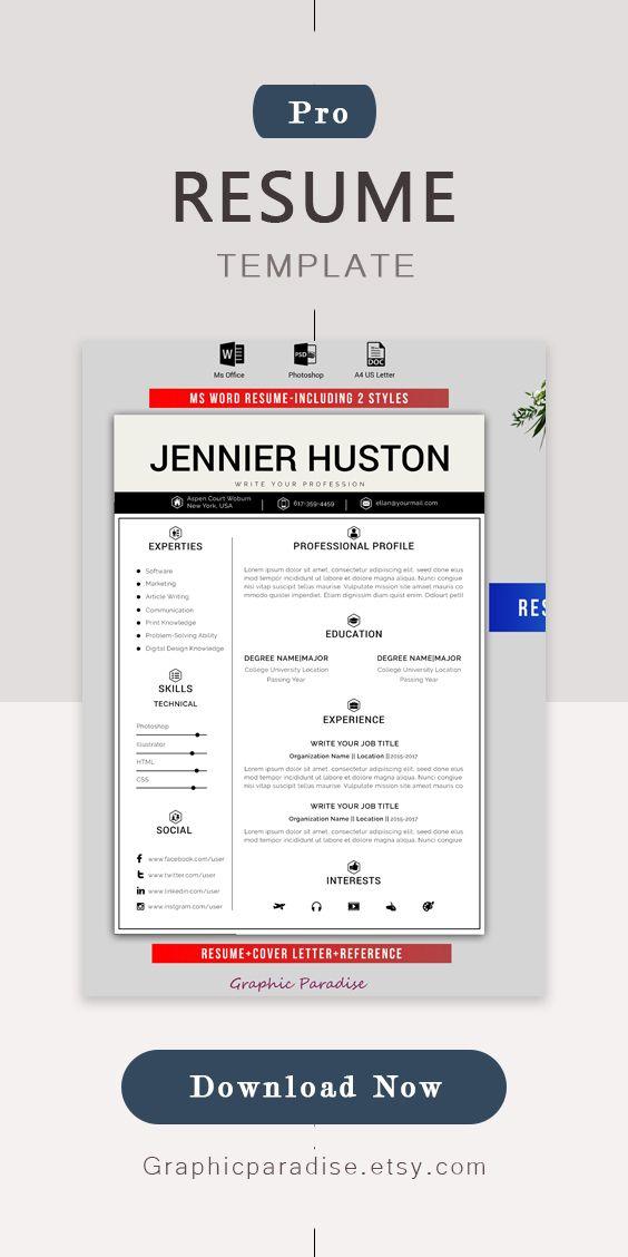 modern resume / CV professional - graphicparadise   ello