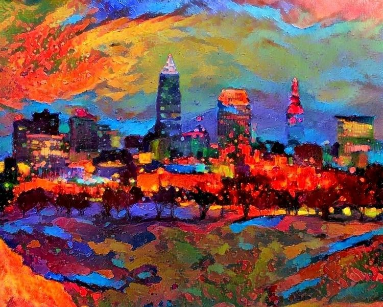 Cleveland skyline Edgewater Par - kenlong   ello