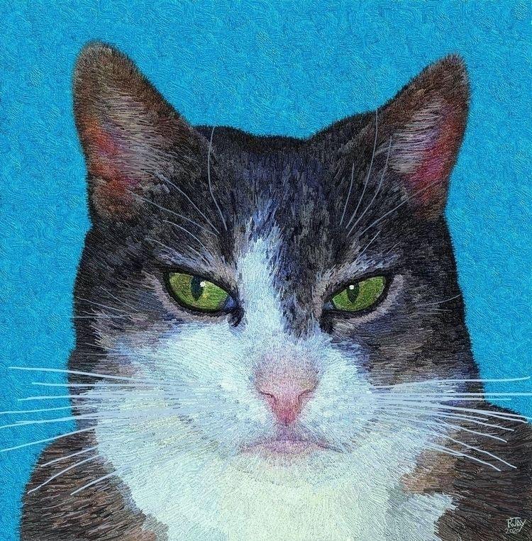 Lucy - Cats - art, digital, digitalart - rjayslais | ello