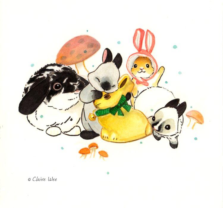 Bunster Day 7 - Easter Bunny te - j0eyg1rl | ello