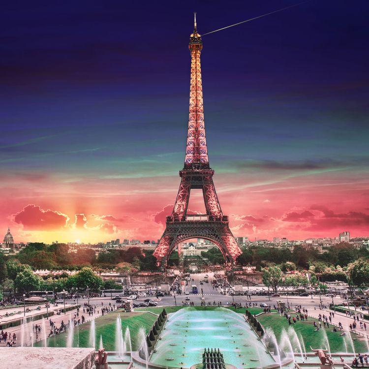☼ƒ☼ Paris sienna-blue-red-green - sonicodesign | ello