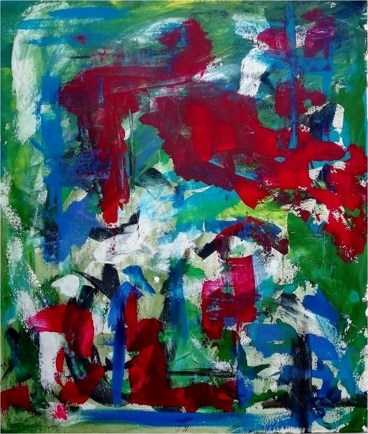 Abstractionism, details, acrylic - __j____o   ello