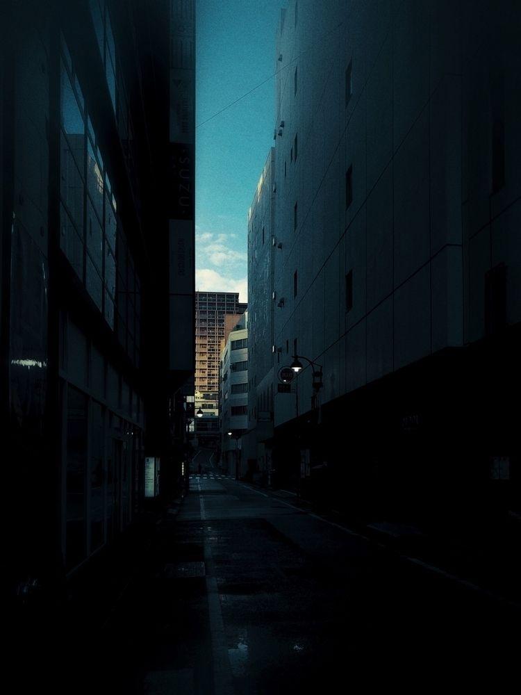Surreal dystopian downtown Shib - iss_ei | ello