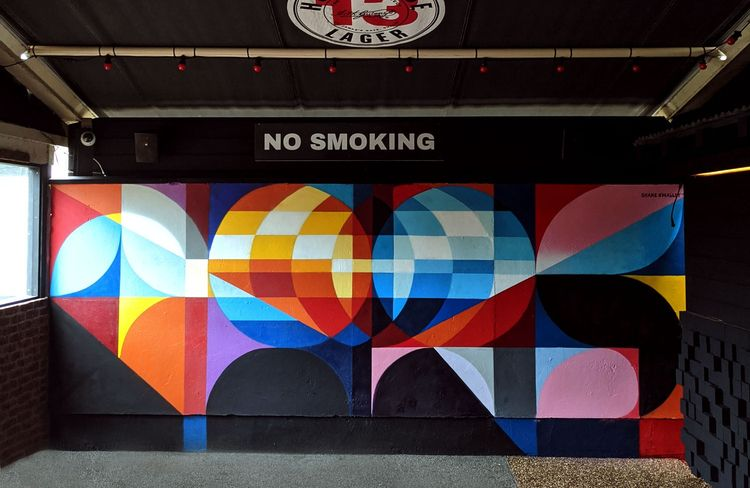 Mural painted bar Galway  - art - shaneomalleyart | ello