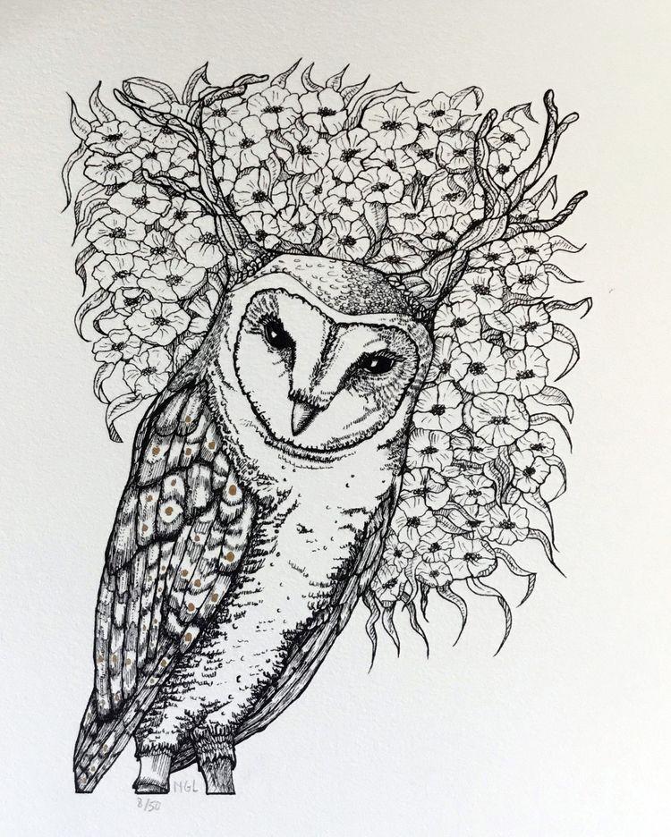 Tawukt 2019 Ink Gold Acrylic - illustration - nicglorieux_illustration | ello