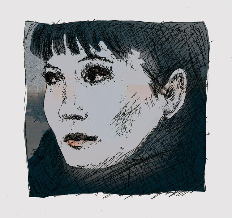 portrait, dessin, drawing, woman#digitalart - antoninguillot | ello