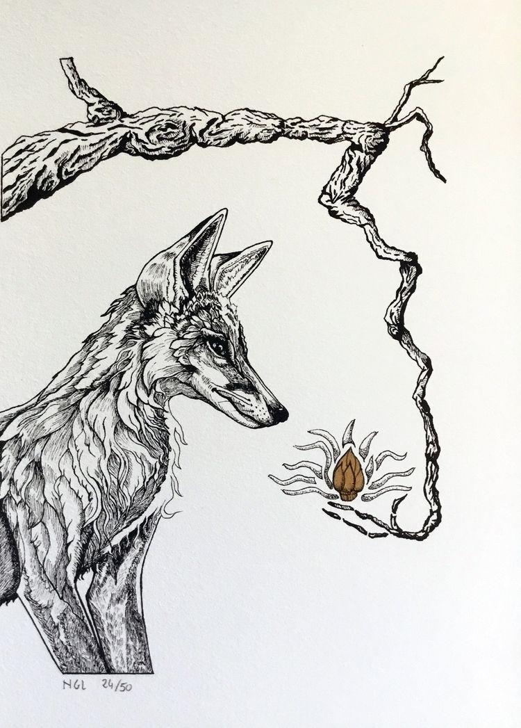 Offeranda Ink Gold Acrylic Arch - nicglorieux_illustration | ello