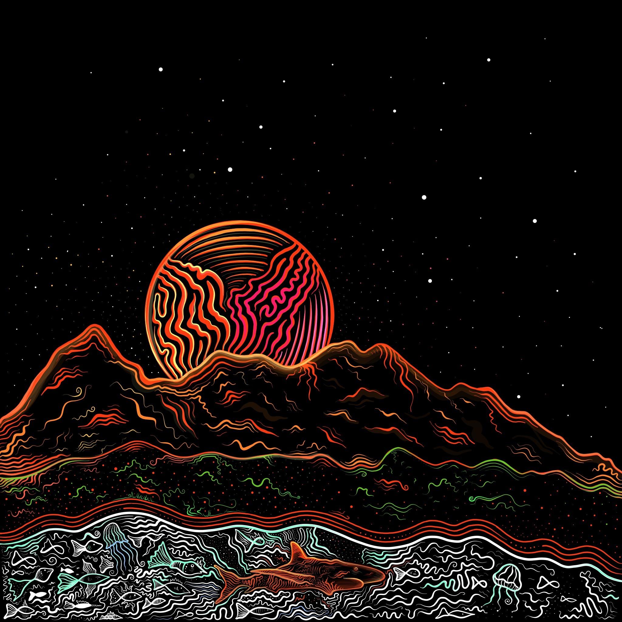 Illustration Stian album Though - brokoola | ello