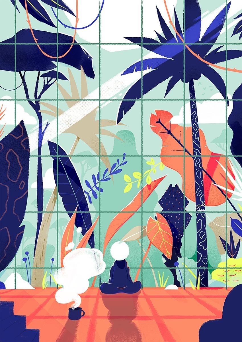 illustration, jungle - paykhan | ello