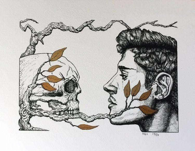 Mirror - Velin Arches paper Ink - nicglorieux_illustration | ello