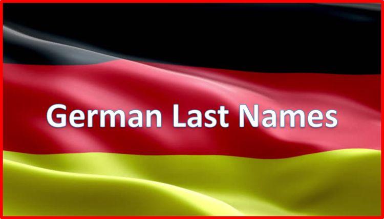 common German surnames - worldlastnames   ello