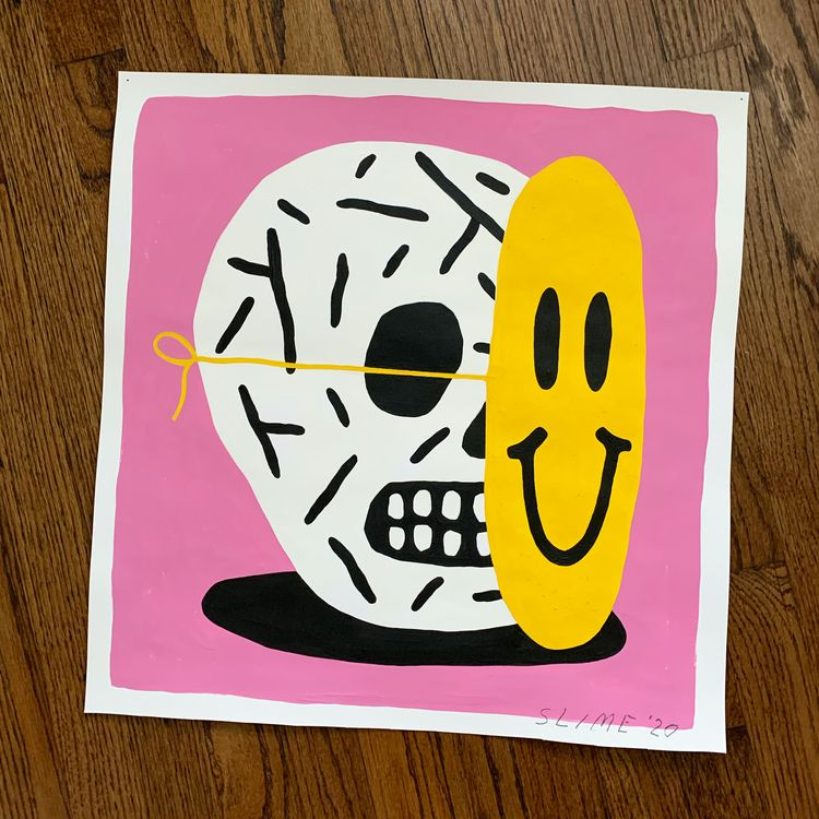 Acrylic paper. 19x19.5 - quarantine - grossillustration | ello