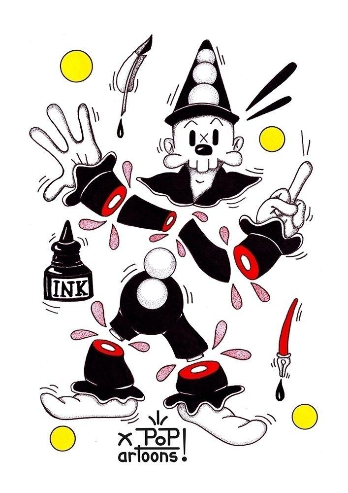 Popartoons ink drawing. purchas - theodoru | ello