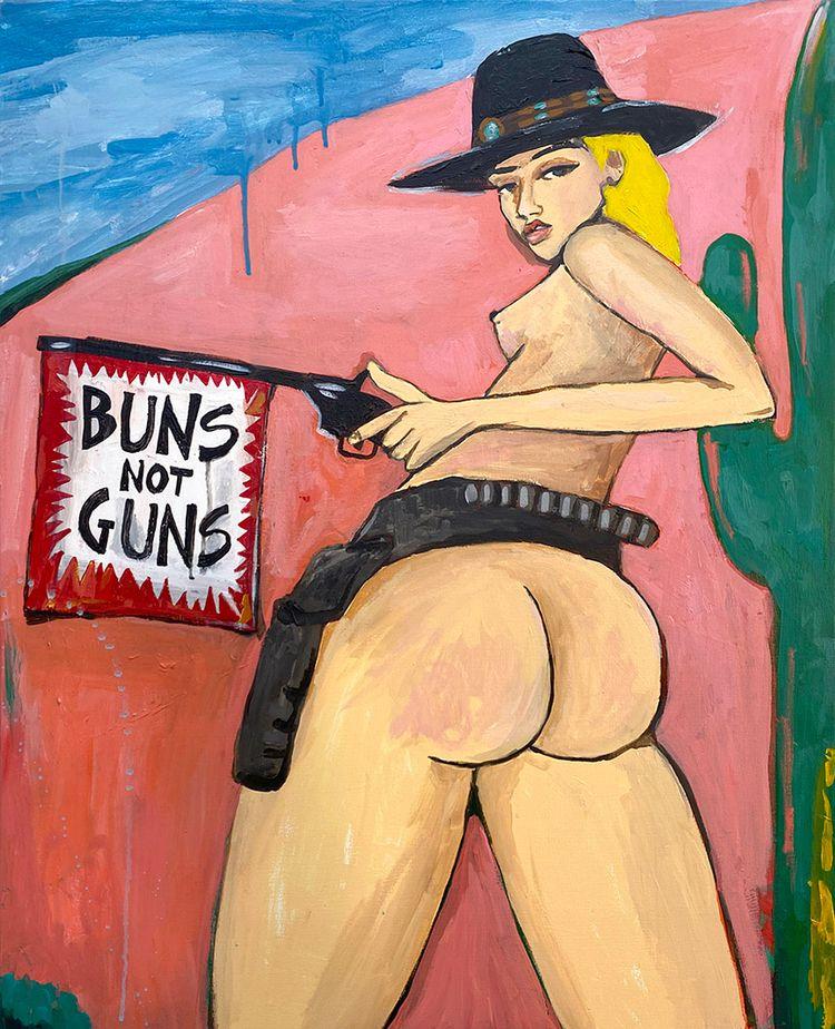 Buns Guns, 30 40, Acrylic canva - meeganbarnes | ello