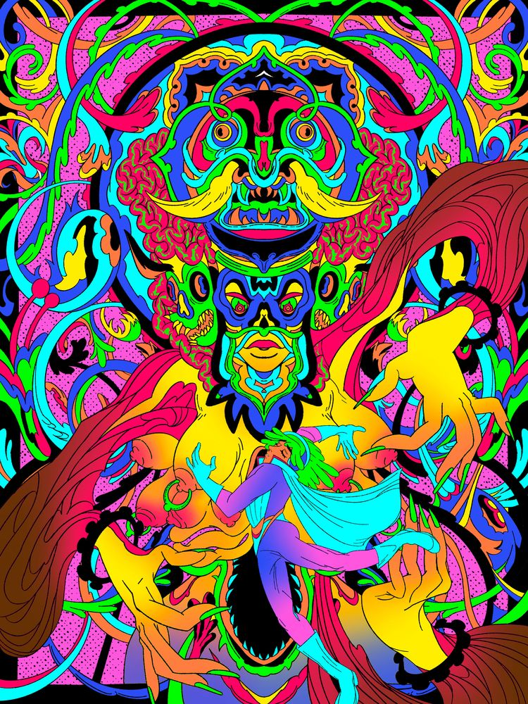 Diptych illustrations Riso prin - j4lly_ | ello