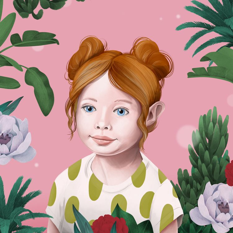 illustration, portrait, child - jutta-kivilompolo | ello