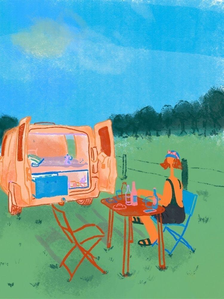 summer camping great holidays - monique_pfneiszl | ello