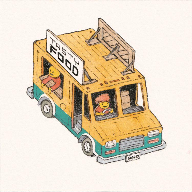 time good Tasty Food Truck! Ink - junkyardsam | ello