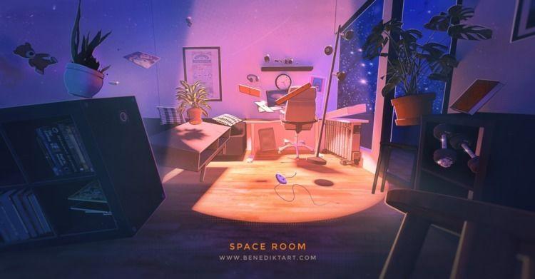 Throwback modeled studio apartm - benediktart   ello