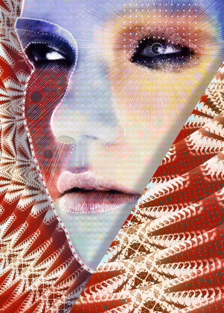 Colored face Digital collage - art - marcoosson | ello