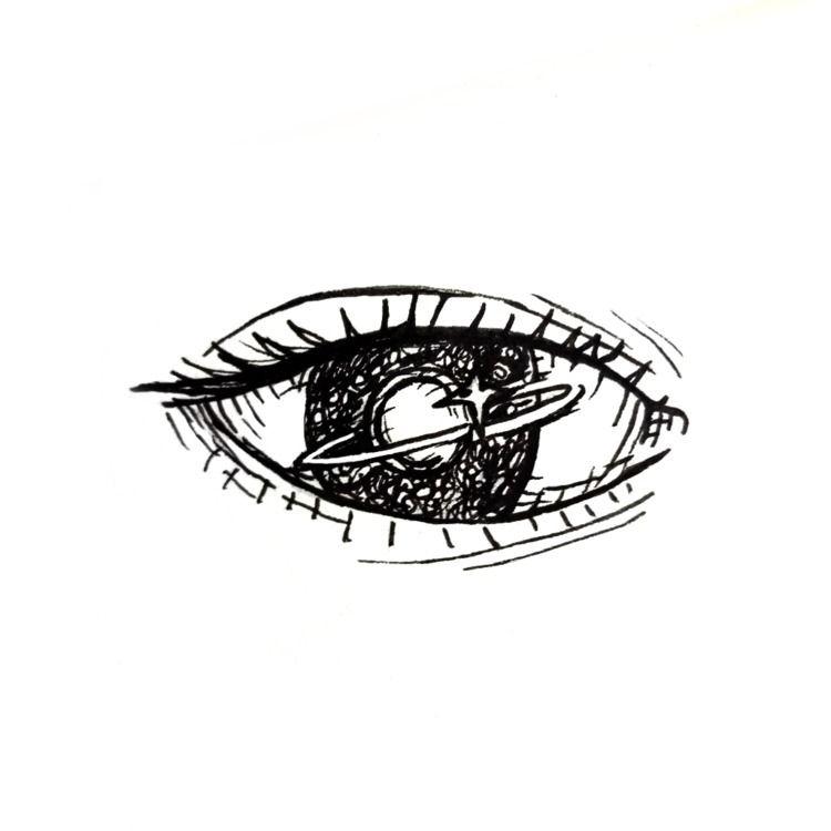 Glowing - ink, eye, inksketch - sritamaclo | ello