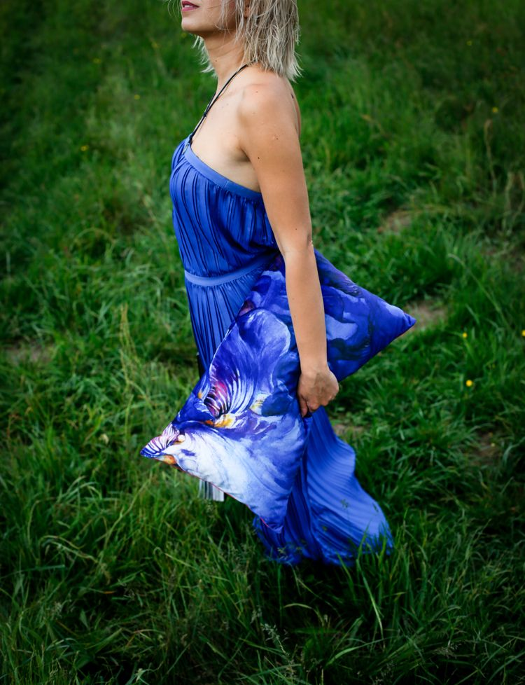 cobalt story - textile, art, nature - meganpoparda | ello